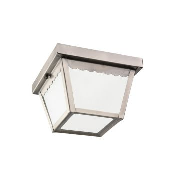 Sea Gull Lighting Outdoor Ceiling 1-Light Outdoor Ceiling Flush Mount in Antique Brushed Nickel