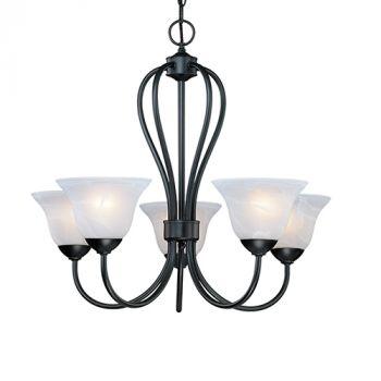 Millennium Lighting Main Street 5-Light Chandelier in Black