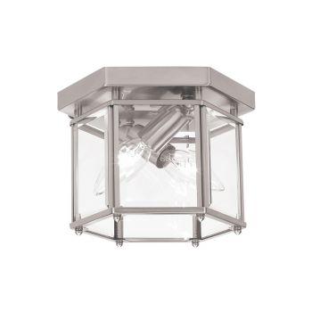 Sea Gull Lighting Bretton 2-Light Ceiling Flush Mount in Brushed Nickel