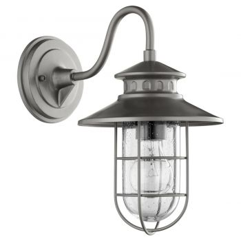 "Quorum International Moriarty 13"" Outdoor Wall Light in Graphite"