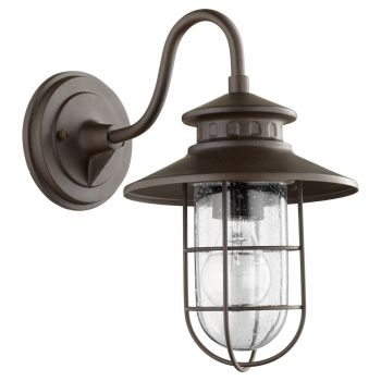"Quorum International Moriarty 13"" Outdoor Wall Light in Oiled Bronze"
