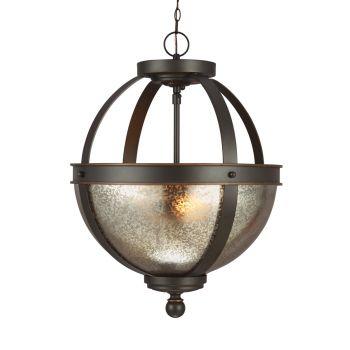 Sea Gull Lighting Sfera 2-Light Semi-Flush Convertible Pendant in Autumn Bronze