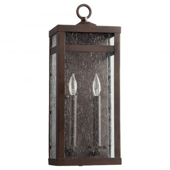 "Quorum International Clermont 2-Light 19"" Outdoor Wall Light in Oiled Bronze"