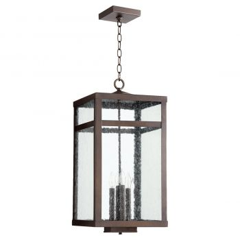 "Quorum International Clermont 4-Light 25"" Outdoor Wall Light in Oiled Bronze"
