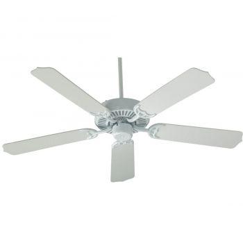 """Quorum Capri 42"""" 5-Blade Indoor Ceiling Fan in White"""
