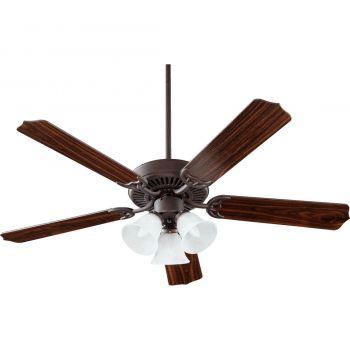 """Quorum Capri VI 52"""" 3-Light Indoor Ceiling Fan in Toasted Sienna"""