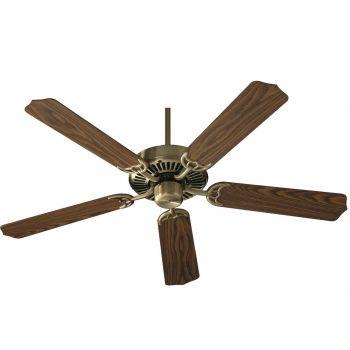 """Quorum Capri I 52"""" 5-Blade Indoor Ceiling Fan in Antique Brass"""