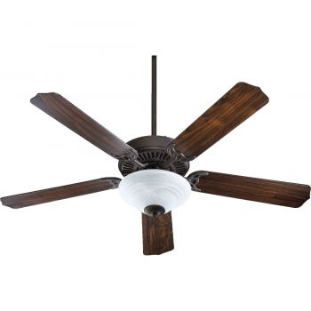 "Quorum Capri III 52"" Classic Ceiling Fan in Toasted Sienna"