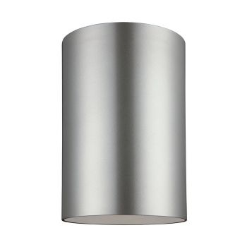 Sea Gull Lighting Outdoor Bullets Large 1-light Outdoor Ceiling Flush Mount in Painted Brushed Nickel