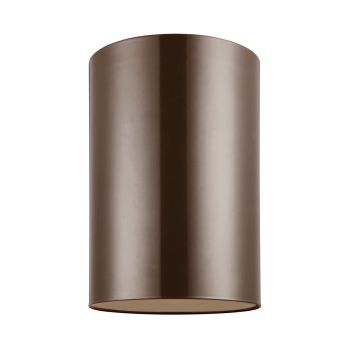 Sea Gull Lighting Outdoor Bullets Large 1-light Outdoor Ceiling Flush Mount in Bronze