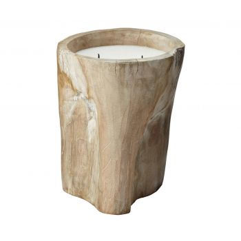 ELK Home Signature Log Candle in Tan Finish