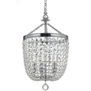Crystorama Archer 5-Light Crystal Chandelier in Polished Chrome