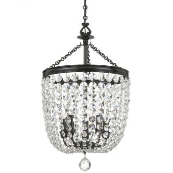 Crystorama Archer 5-Light Spectra Chandelier in Polished Chrome