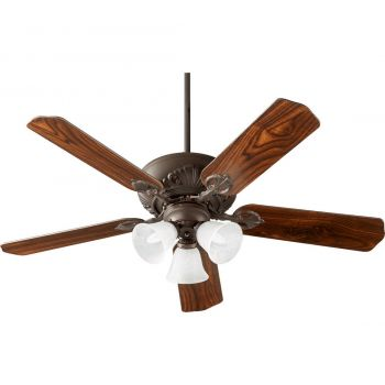 "Quorum Chateaux Uni-Pack 52"" 3-Light Ceiling Fan in Oiled Bronze"