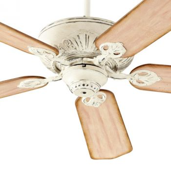 "Quorum Chateaux 52"" 5-Blade Ceiling Fan in Persian White"