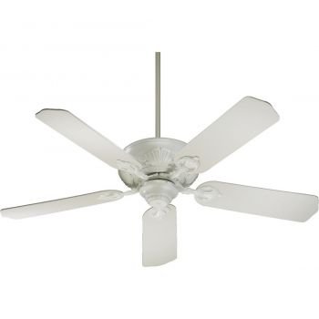 "Quorum Chateaux 52"" 5-Blade Ceiling Fan in Studio White"