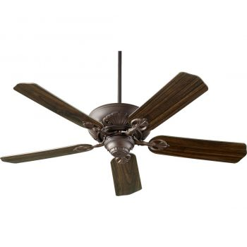 "Quorum Chateaux 52"" 5-Blade Ceiling Fan in Oiled Bronze"