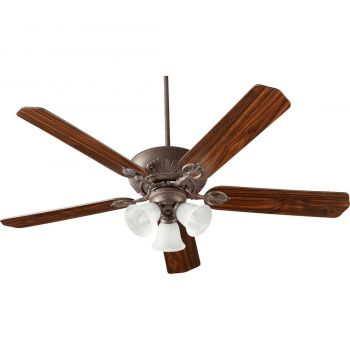 "Quorum Chateaux Uni-Pack 60"" 3-Light Ceiling Fan in Toasted Sienna"