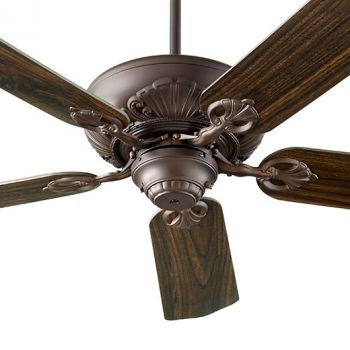 "Quorum Chateaux 60"" 5-Blade Indoor Ceiling Fan in Oiled Bronze"