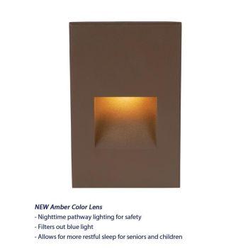 WAC Lighting 120V LEDme 1-Light Vertical Step and Wall Light in Bronze
