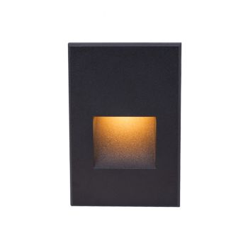 WAC Lighting 120V LEDme 1-Light Vertical Step and Wall Light in Black