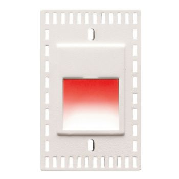 WAC Lighting 120V LEDme 1-Light Vertical Trimless Step and Wall Light in White