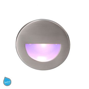 WAC Lighting 120V LEDme 1-Light Round Step and Wall Light in Brushed Nickel