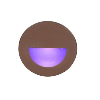 WAC Lighting 120V LEDme 1-Light Round Step and Wall Light in Bronze