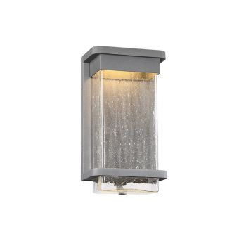 Modern Forms Vitrine 1-Light Outdoor Wall Light in Graphite