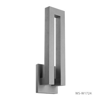 Modern Forms Forq 1-Light Outdoor Wall Light in Graphite