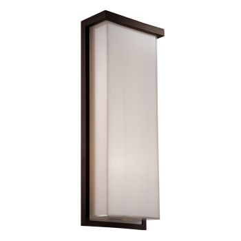 Modern Forms Ledge 1-Light Outdoor Wall Light in Bronze