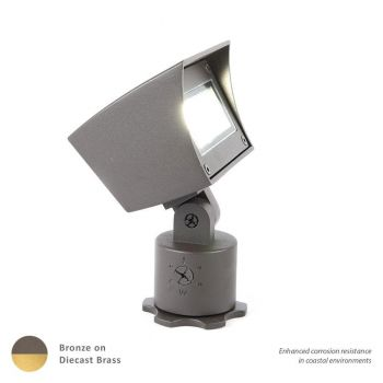 WAC Lighting 1-Light LED 12V Flood Light in Bronzed Brass