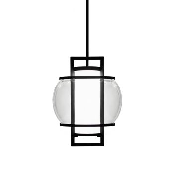 Modern Forms Lucid 1-Light Outdoor Pendant in Black
