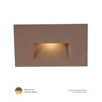 WAC Lighting 120V LEDme 1-Light Horizontal Step and Wall Light in Bronzed Brass