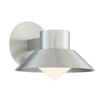 Modern Forms Oslo 1-Light Outdoor Wall Light in Brushed Aluminum
