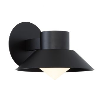 Modern Forms Oslo 1-Light Outdoor Wall Light in Black