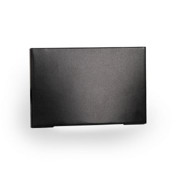 WAC Lighting 1-Light LED Low Voltage Horizontal Scoop Step and Wall Light in Black