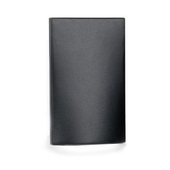 WAC Lighting 1-Light LED Low Voltage Vertical Scoop Step and Wall Light in Black