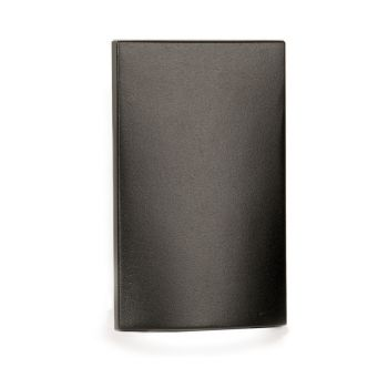 WAC Lighting 1-Light LED Low Voltage Vertical Scoop Step and Wall Light in Bronze