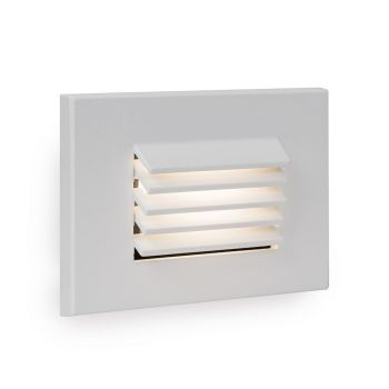 WAC Lighting 1-Light LED Low Voltage Horizontal Louvered Step and Wall Light in White