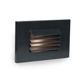 WAC Lighting 1-Light LED Low Voltage Horizontal Louvered Step and Wall Light in Black