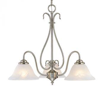 Millennium Lighting 700 Series 3-Light Chandelier in Satin Nickel