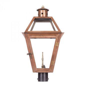 Elk Lighting Grande Isle Gas Outdoor Post Lantern in Aged Copper