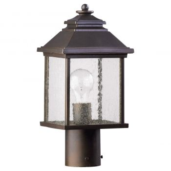 "Quorum International Pearson 15"" Outdoor Post Light in Oiled Bronze"