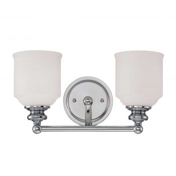 Savoy House Melrose 2-Light Bath Vanity in Polished Chrome