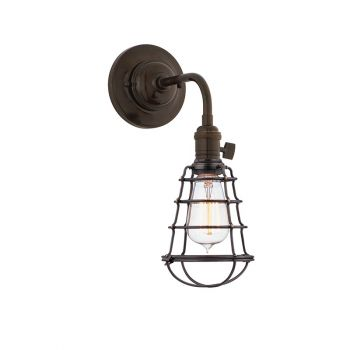 Hudson Valley Heirloom Wire Guard Scallop Shade Wall Sconce in Old Bronze