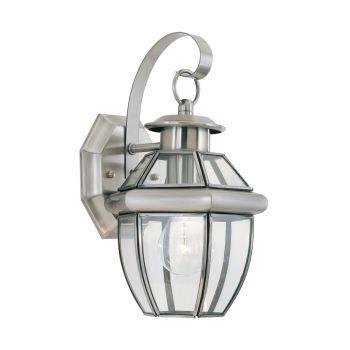 Sea Gull Lighting Lancaster 1-Light Outdoor Wall Lantern in Antique Brushed Nickel