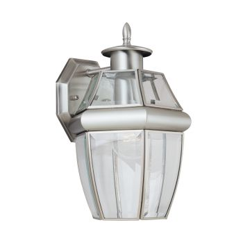 Sea Gull Lighting Lancaster 1-Light Outdoor Wall Lantern in Antique Brushed Nickel
