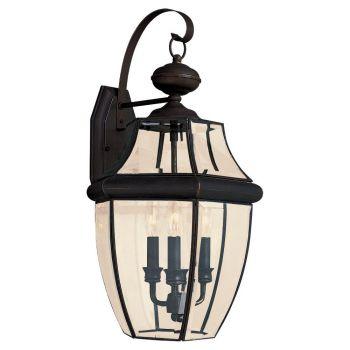 Sea Gull Lighting Lancaster 3-Light Outdoor Wall Lantern in Antique Bronze