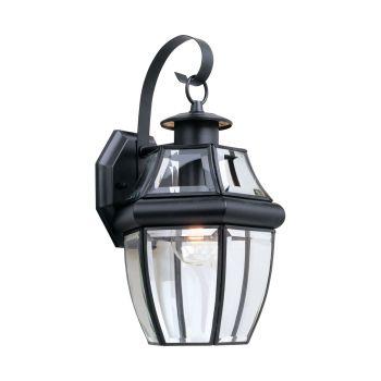 Sea Gull Lighting Lancaster 1-Light Outdoor Wall Lantern in Black